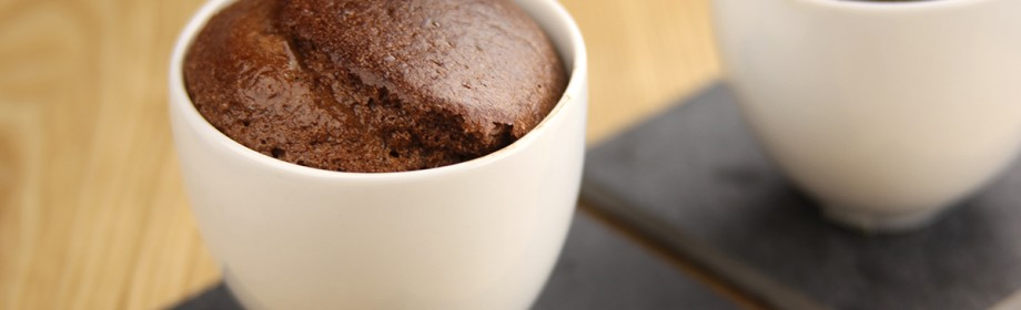 Individuele souffles met pure chocolade